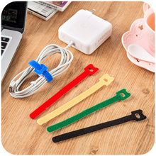 50 pcs/Lot Table management Cute hook and loop cable organizer 15cm Nylon straps organizador cables Stationery households 5169(China)