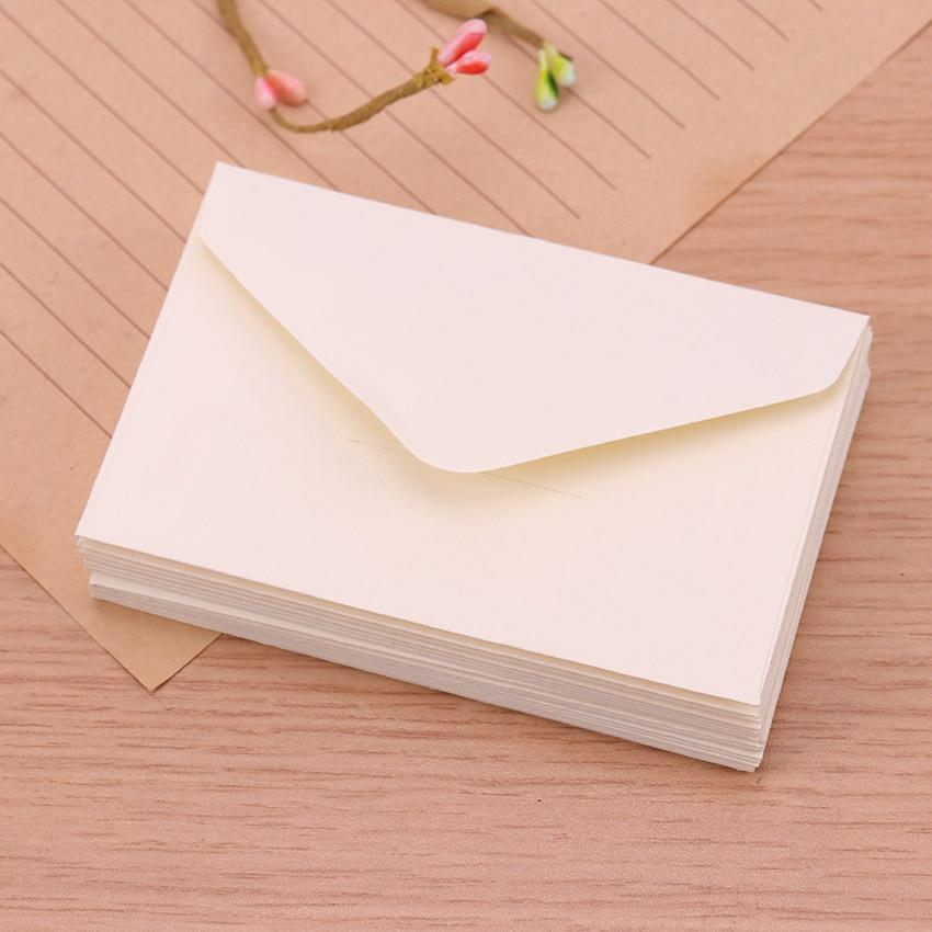 20 шт Классическая белая черная крафт-бумага пустая мини-бумага конверты для окна свадебные приглашения конверт Подарочный конверт - Цвет: Белый