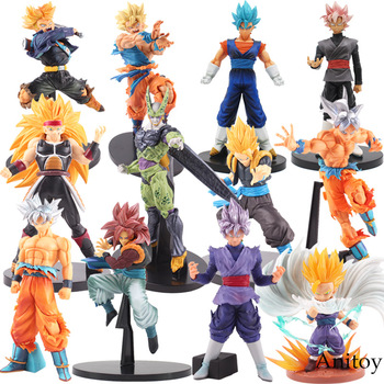 Dragon Ball Z фигурка BWFC Goku DXF черный Zamasu Vegetto Saiyan Gogeta Son gohan cell BWFC trunks Badac сборная игрушка