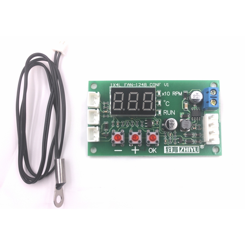 Fan Thermostat Governor 2-Way 4-Wire PWM 12V//24V//48V Temperature Speed Dispaly