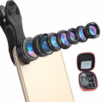 Ulanzi NEW APEXEL 7 In 1 Universal Clip On Cell Phone Lens Kit HD Kaleidoscope Zoom