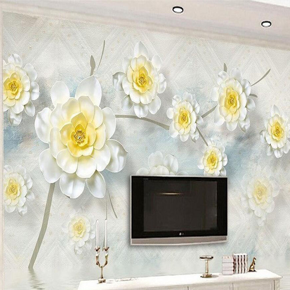 3d Floral Wallpapers Photo Wall Mural For Living Room Bedroom