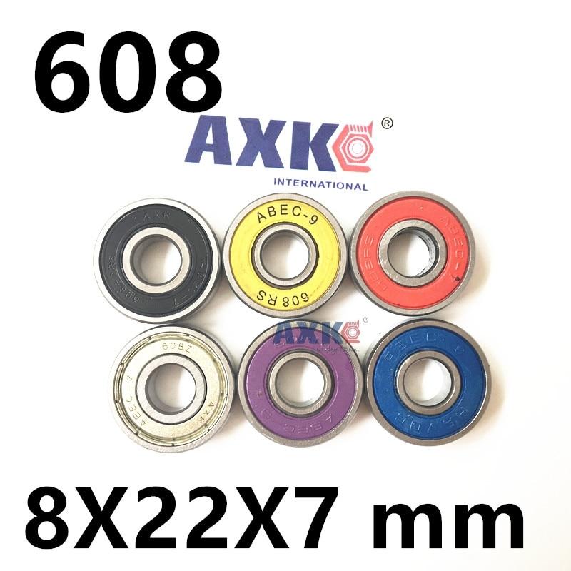 2018 New Arrival Rolamentos 608zz 608-2rs Bearing Abec-7 Abec-9 8x22x7 Mm Miniature 608 Zz Skateboard Ball Bearings 608-2z 608z