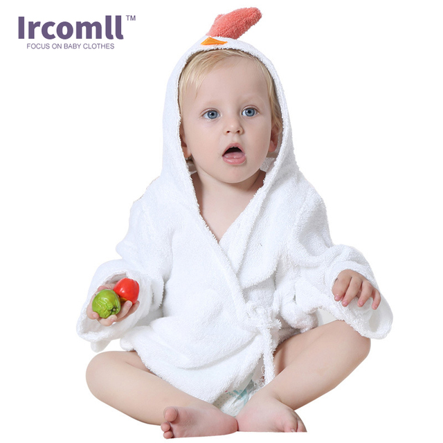 Children's Robe Bath Cute Cartoon Baby Bathrobe Comfortable Towel Bath Suction Sweat Home Wear For 0-12 Month 4