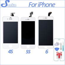 SANKA AAA For iPhone 4 A1332 4S 5S 5C 5 6 6Plus LCD Touch Sc