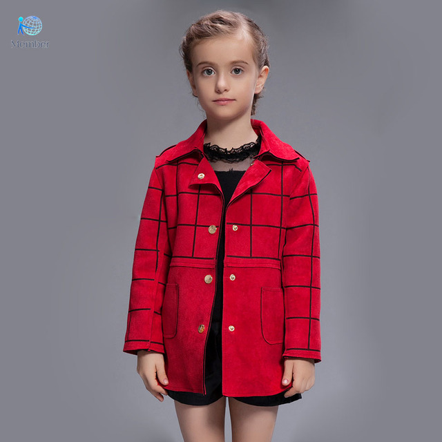 Children's winter jackets Qiu dong outfit coat of the girls High-grade deerskin add wool coat girls coats and jackets coat 30#