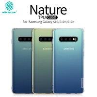 Nillkin-funda de TPU suave para Samsung Galaxy S10 / S10 + / S21 +, cubierta protectora transparente FINA Original, 6,1