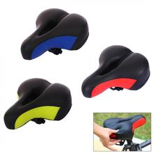 Reflective Hollow Bicycle Saddle PVC Fabric Soft MTB Cycling Road Mountain Bikes Seat Bicycle Accessories multi functional bicycle seat saddle for road fixed gear bikes black red