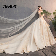 2019 popular wedding explosions spot large size dreamy warm love sexy beautiful noble luxury dress Lace