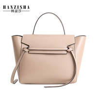 Fshion Brand Genuine Leather Women Handbag Luxury Women Bag Designer Leather Women Shoulder Crossbody Trapeze Bag Casual Tote