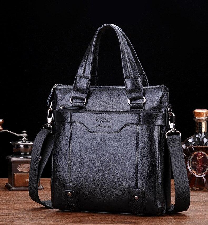 ZYJ Men\`s Business Leather Shoulder Laptop Briefcase Bags Sling Travel Messenger Portfolio Bag Causal Bolsa Lawer Handbag (49)