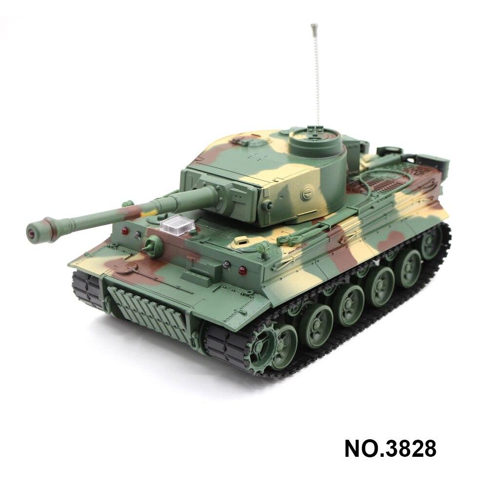 3828 1/26 échelle allemand tigre Panzer 27 MHz RC réservoir de bataille avec son et lumière simulés 320 degrés tourelle rotative