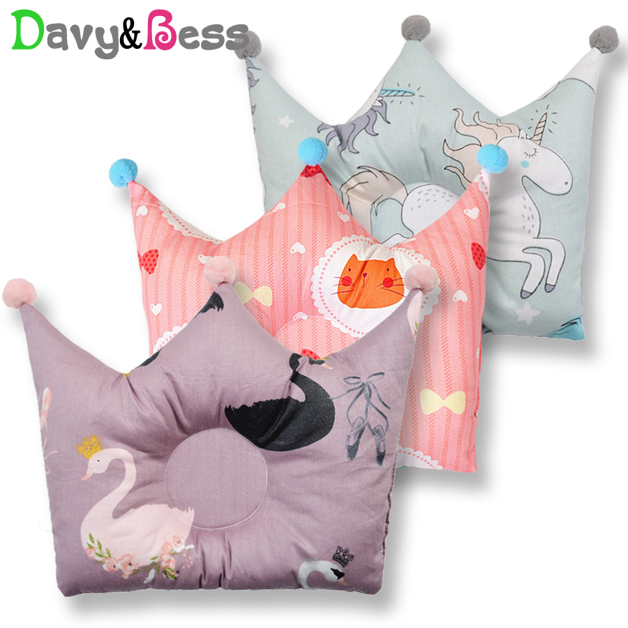 Anti Flat Head Baby Pillow Newborn Head Protection Cushion Neck Roll Infant Pillow For Newborn Baby Room Decor Kids Decoration