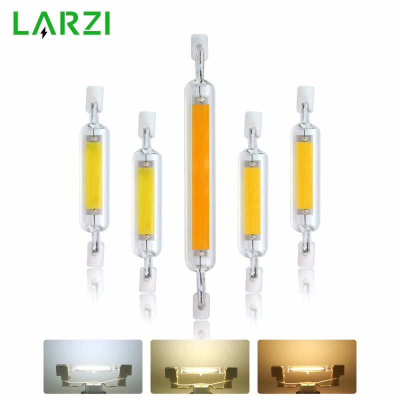 Halogène 220 V Ampoule R7s Led Cob 8 230 Spot Lumière 78mm 4 Dimmable W Verre Remplacer Tube Larzi De Ac 118mm Lampe BdxoCer