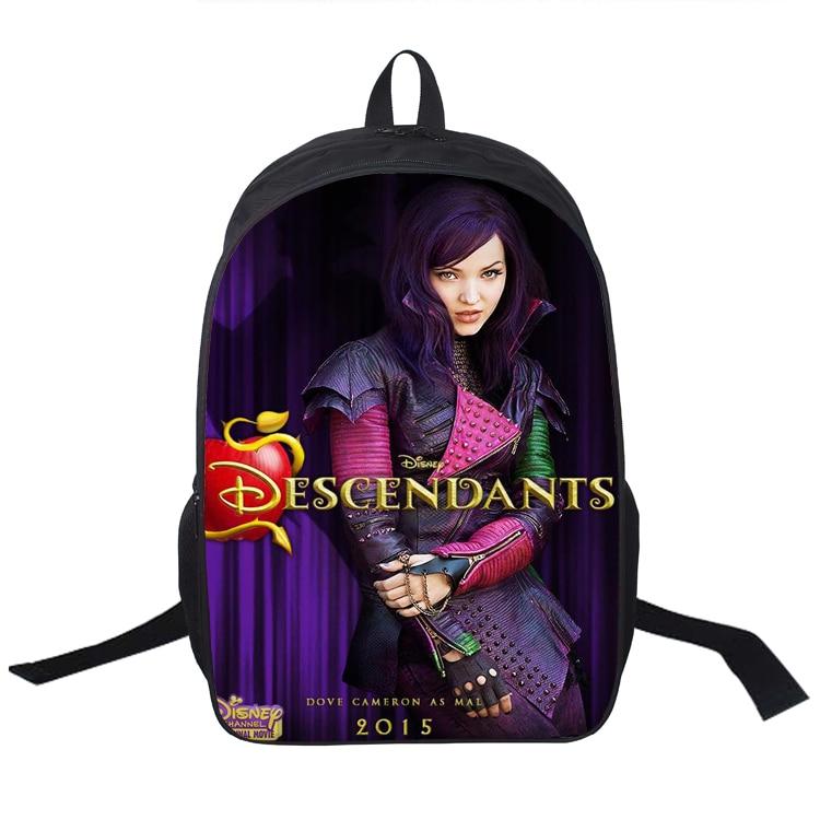 16 Inch Descendants Backpack For Teenagers Boys Girls School Bags Women Men Travel Bag Children Backpacks