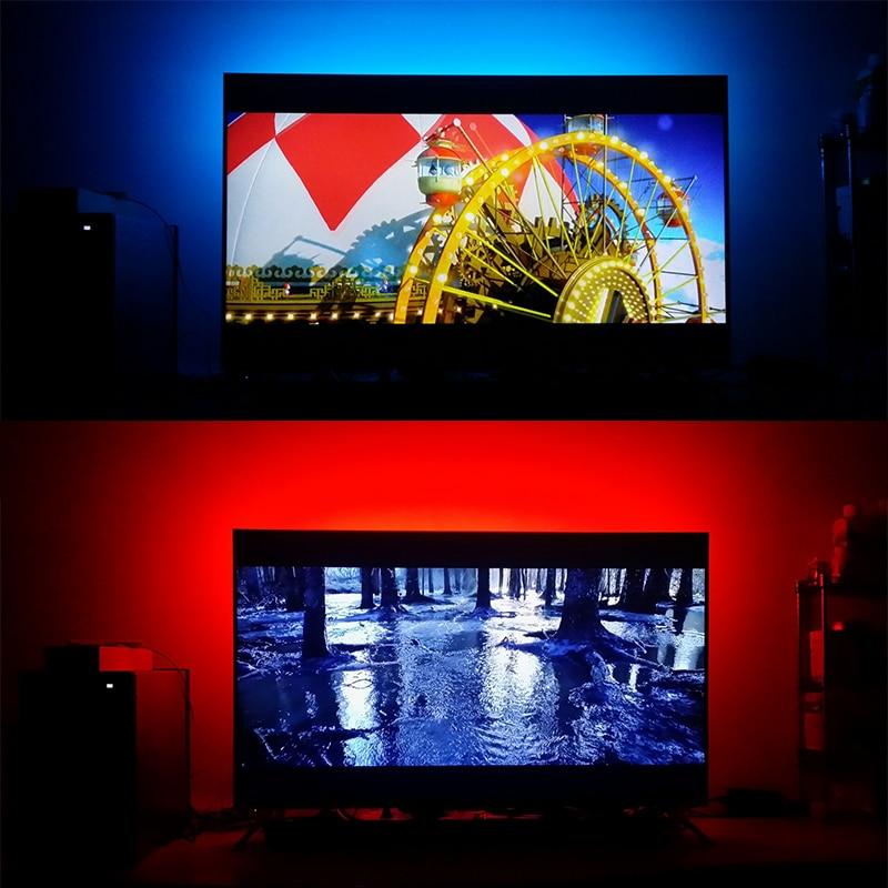 DC5V USB LED lente 5050 RGB Elastīga gaisma 1M 2M TV fona - LED Apgaismojums - Foto 6