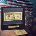 WR Great Home Decor Cor Americano Banhado A Ouro Banknote 1864 Ano 100 Dólar EUA Nota Conta com Mostrando Suporte Para Coleção