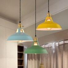 Multi color Lámpara Bar cocina comedor luminaria suspendu vintage Loft Inudstrial decoración E27 bombilla brillo-lámpara de suspensión