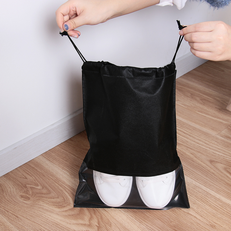 1PC Waterproof Shoes Bag Covers Portable Travel Organizer Drawstring Bag Cover Non-Woven Fabric Shoe Cover Accessories