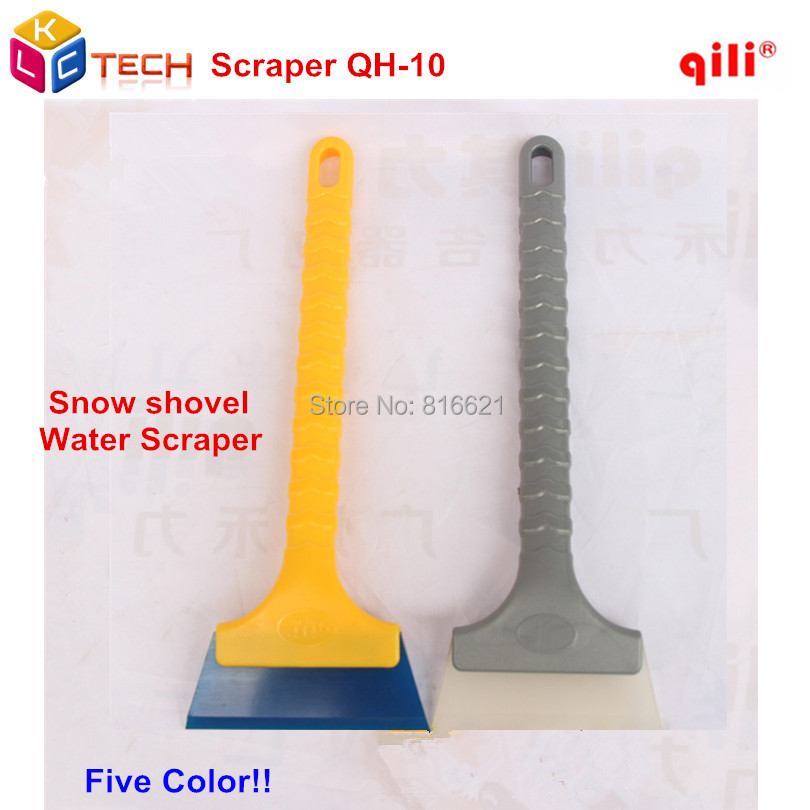 Qili QH-10 Long handle 32cm Car full body Rubber Ice Scraper Snow Brush With Soft Rubber Material Snow Scraper Squeegee Tools