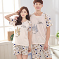 2017 Couples suit Summer's Buff color Totoro pattern Short Leisure wear