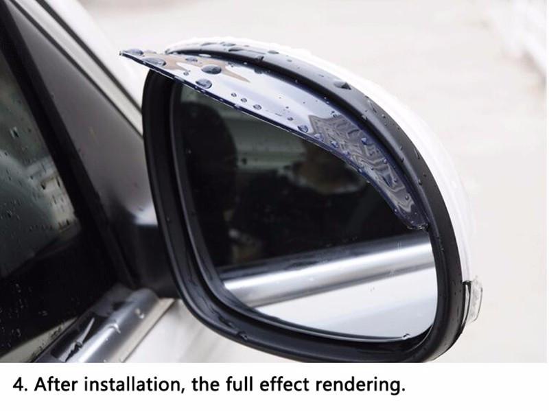 HTB1St9Ch2NNTKJjSspeq6ySwpXak - KOWELL Luxury Universal Car Auto Vehicle Rearview Mirror Rain Shade Rainproof Mirror Eyebrow Cover Guard for Lada for Volkswagen