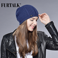 FURTALK Woman Knitted Beanie Hat Caps Girls Hats Spring Autumn Wool Hats for Women Slouchy Hat Female