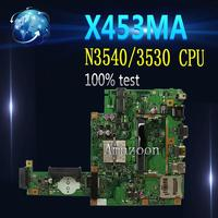 Amazoon  For Asus X453MA X403M F453M Laptop motherboard X453MA N3540/3530 CPU 4 CORES Mainboard test good
