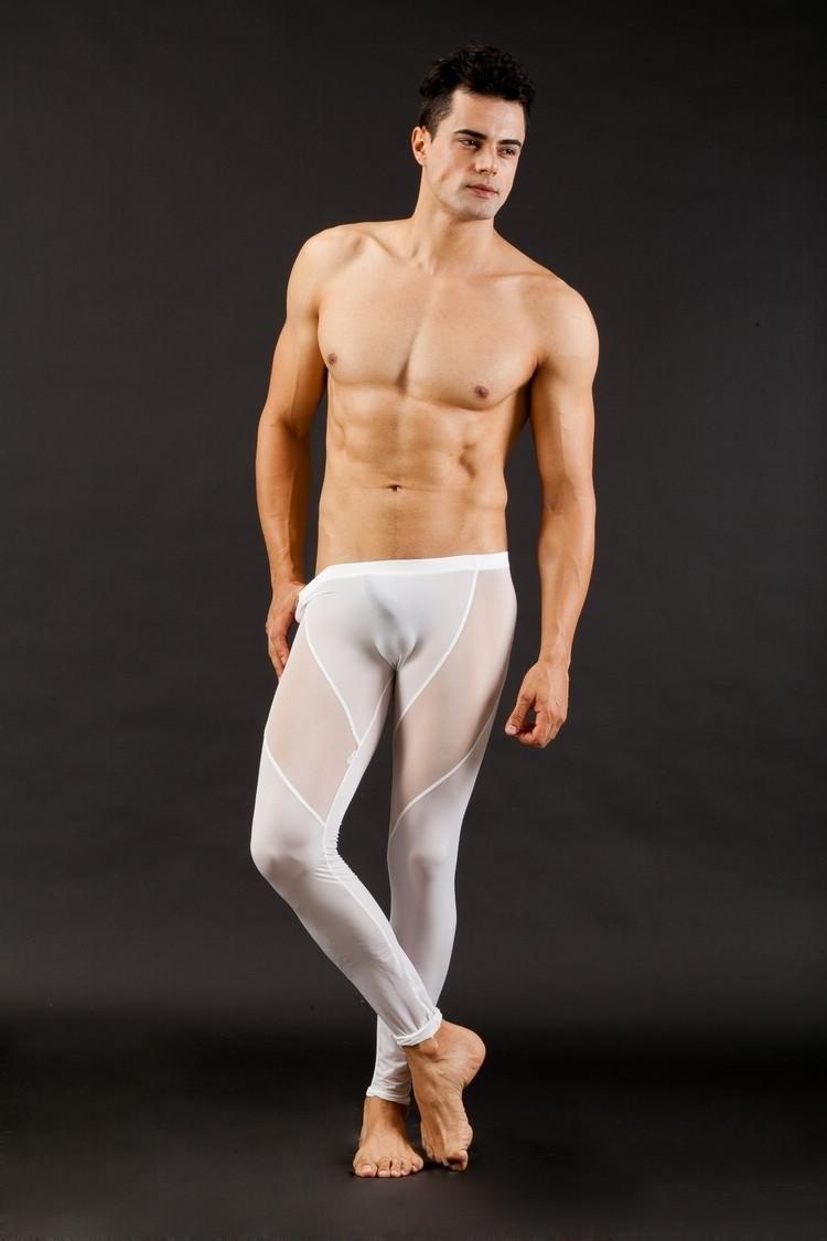 Aliexpress.com : Buy Sexy Men's Long johns Smooth mesh see thru ...
