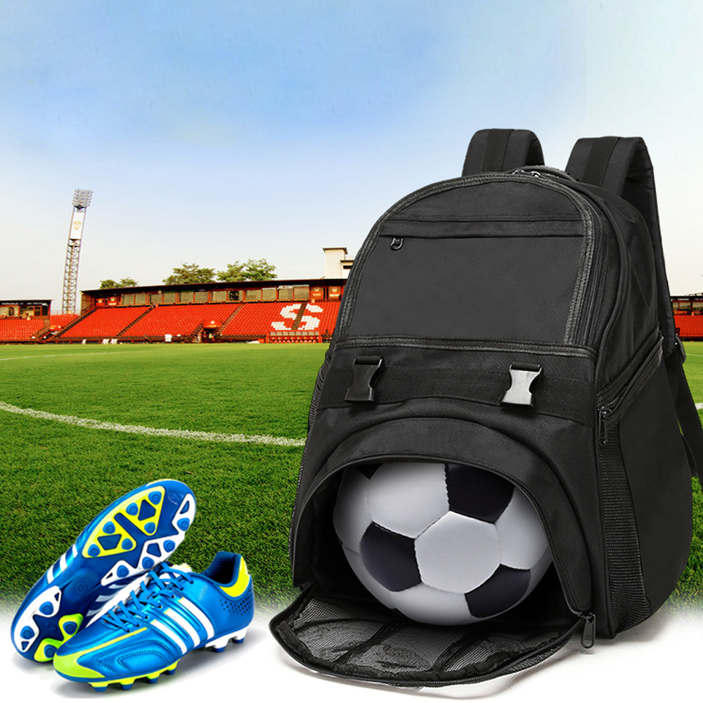 2018 novo Pacote de Saco de Bola de Futebol de Formação Sacos Profissão basquete Ginásio Mochila Durável À Prova D' Água preto cor azul saco de bola