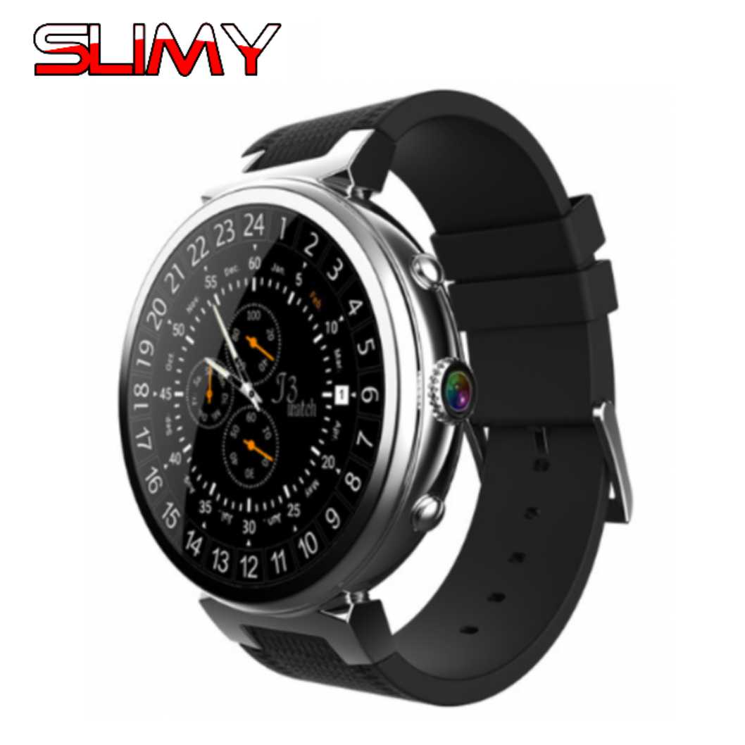 Slimy I6 reloj inteligente Ram 2 GB/Rom 16 GB nuevo MTK6580 dispositivos Wearable Bluetooth Smartwatch teléfono Android 5,1 3G Smartwatch para IOS