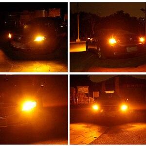 Image 5 - 2 Stuks Canbus 12V 24V P21W BA15S BAU15S PY21W S25 1156 Cob Led Auto Backup Reserve Licht richtingaanwijzer Daytime Light Amber