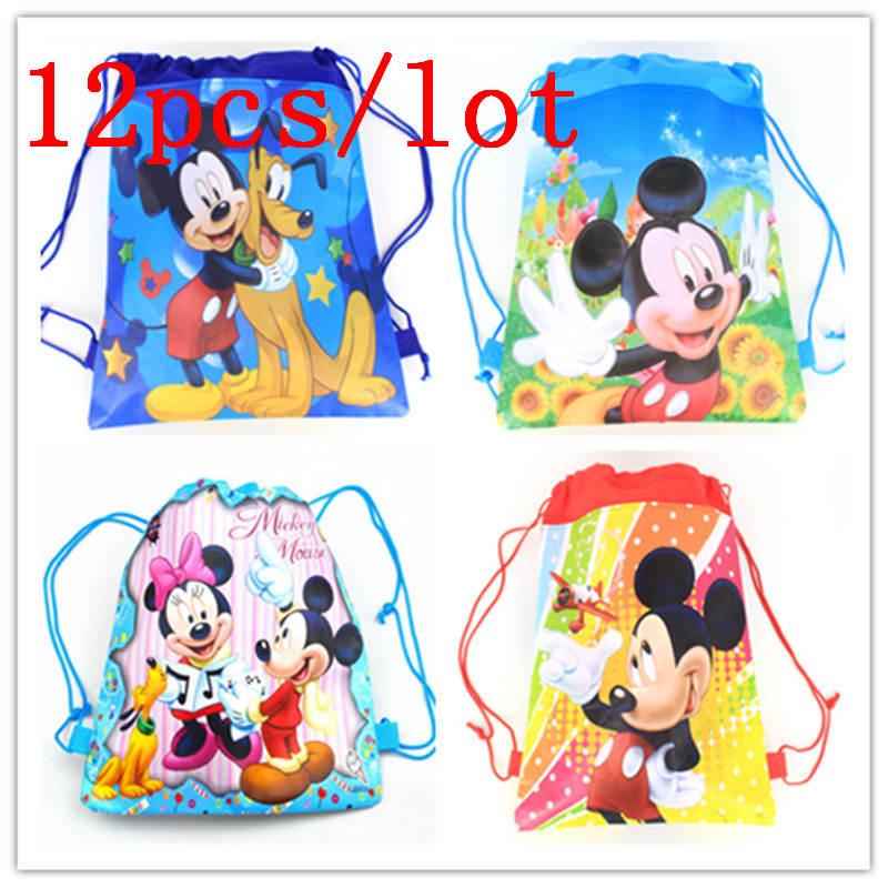 Hohe Qualität 12 stücke Disney Mickey Maus Thema Kordelzug Taschen ...