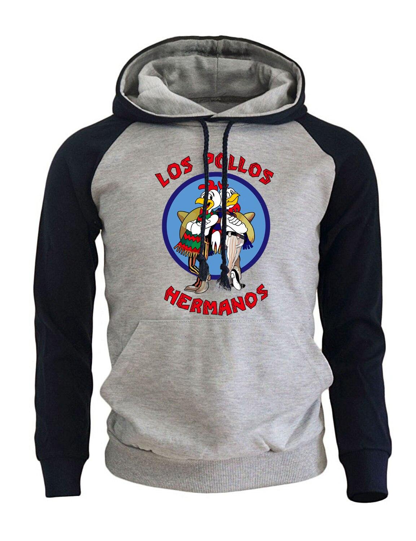 Мужская спортивная одежда Harajuku Толстовка 2018 Новое поступление Толстовка для мужчин принт LOS POLLOS Hermanos Breaking Bad хип-хоп толстовки для мужчин