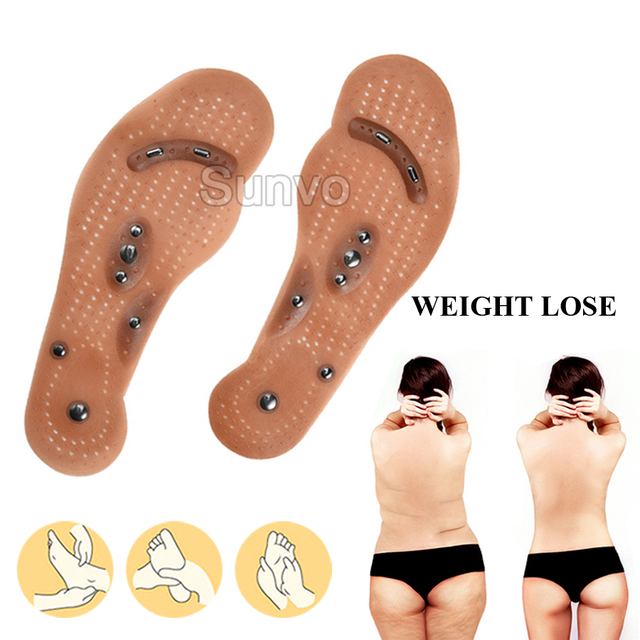 Magnetic Insoles Slimming Therapy for Weight Loss Massage Foot Care Shoes Mat Pad Brown Insole Wholesale Dropshipping Soles 4