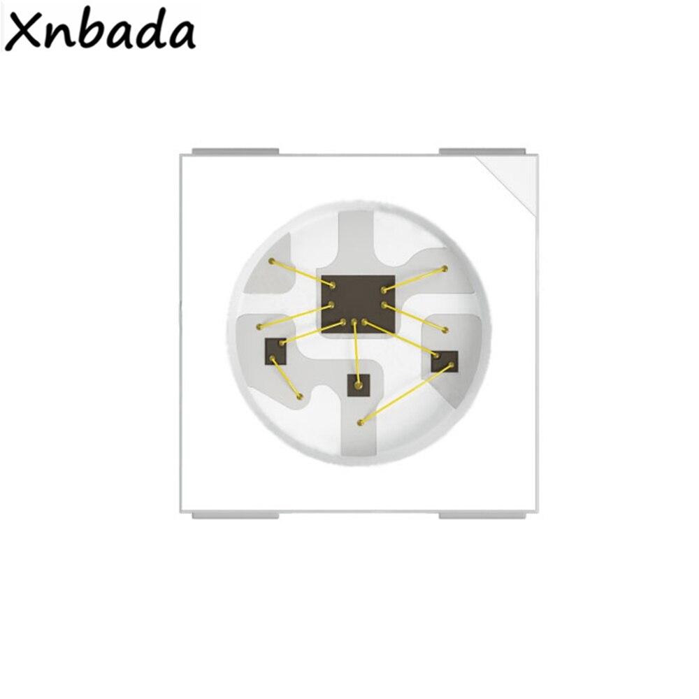 10~1000PCS WS2812 WS2812B Led Strip Chip,Black/White Version (4Pin) RGB Smart WS2811 IC Built-in Addressable DC5V