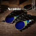 ¡ CALIENTE! XINFEITE Marca Hombres y Mujeres Hombres y Mujeres Segura Espejo Redondo Retro gafas de Sol Al Aire Libre Deportes Gafas de sol UV400