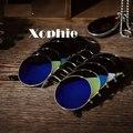 HOT! XINFEITE Marca Homens e Mulheres Homens e Mulheres Seguro Espelho Retro Rodada óculos de Sol UV400 Óculos de Esportes Ao Ar Livre