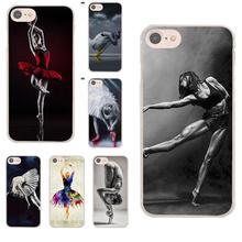 Soft TPU Mobile Shell Ballet Dancer Girl For Moto G G2 G3 For HTC Desire 530