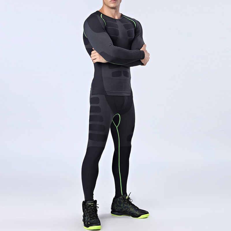 85c8a90970f5b Juegos de correr para hombres Yuerlian 2 unids set trajes deportivos de compresión  para hombres