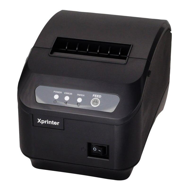 Il trasporto libero 200 mm/s stampante termica 80mm POS stampante Cucina stampante Taglierina Automatica stampante con USB + Serial/Porta Lan XP-Q200II
