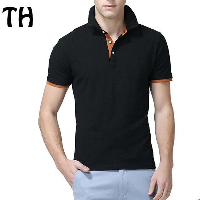 Short Sleeve Polo Shirt Men Turn Down Collar Summer Casual Polos Top 11 Colors #160559