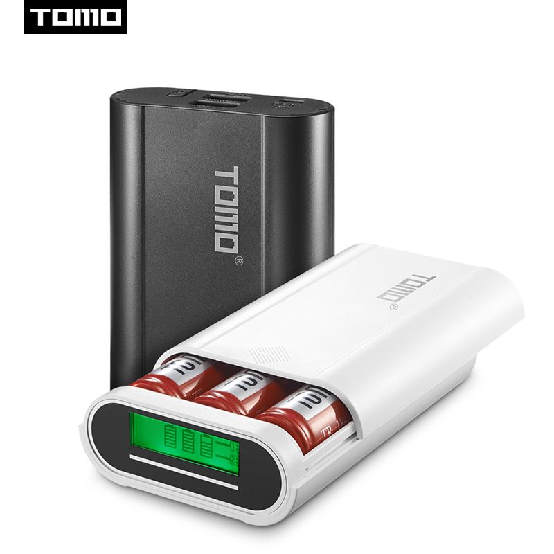 Original Tomo S4 Diy Smart Power Bank 4 X 18650 Li-ion Battery Type-c Micro Usb 8 Pin Input Dual Output Charger Refreshment Accessories & Parts