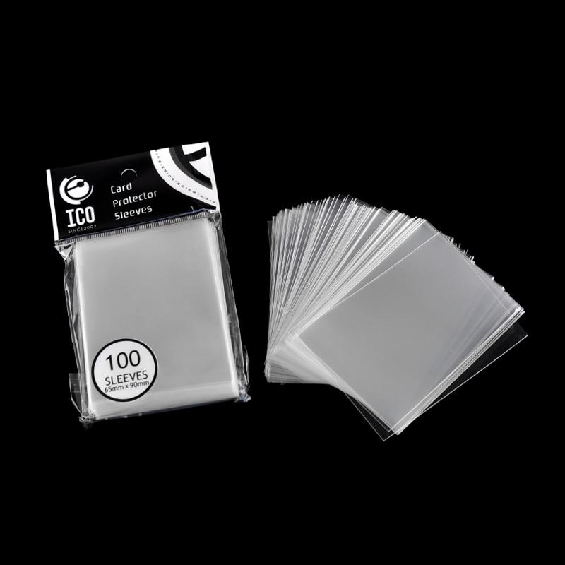 100pcs/pack  Cards Protector 65*90mm Card Sleeve Magic of Three Kingdom Football Star Card Transparent Unsealed Game Sleeves star u930 black x920 three sim card
