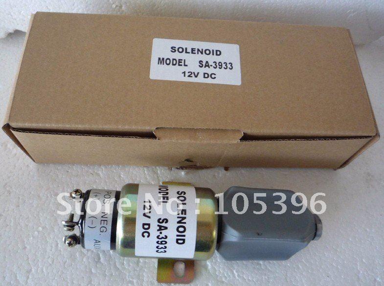 Solenoid Valve SA 3933,solenoid valve 1751-2467U1B1S5A SA-3933(12V)+fast free shipping 3924450 2001es 12 fuel shutdown solenoid valve for cummins hitachi