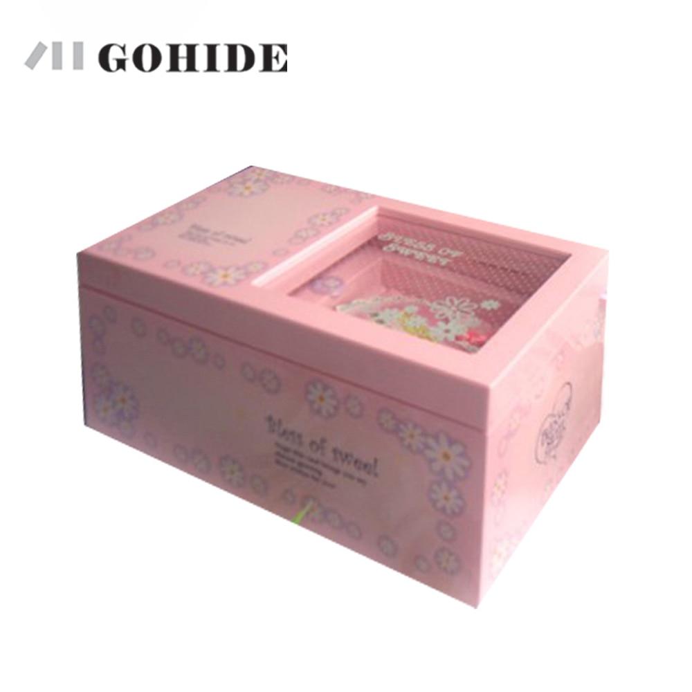 JUH Valentine's Day Gift New Fashion Design plastic Music Box Colorful New Year Gift Beautiful Music Box Jewelry Box