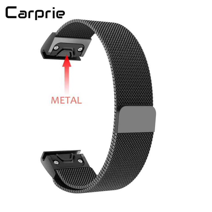 CARPRIE high quality New Milanese Magnetic Loop Stainless Steel Band For Garmin Fenix 5 Watch dec14