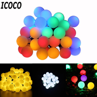 ICOCO Waterproof 30 LED 4 9m Ball String Light Solar Powered Patio Lighting Christmas Light For