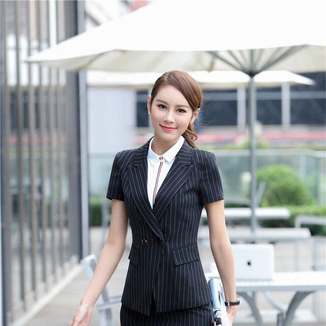 Sommer Kurzarm Formale Blazer Mantel Jacken Schlank Mode Damen Blazer  Professional Business Arbeit Tragen Weibliche Tops cbc8b960b6