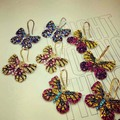 New high-end colorful butterfly micro inlay zircon color retro crystal gift earring temperament for women earrings accessories